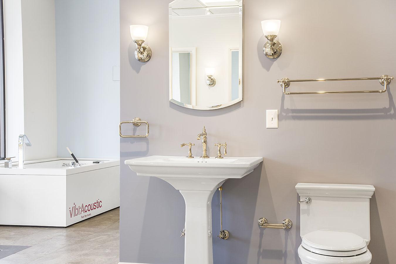 Showroom gallery kitchen bath showroom accessories for Bathroom accessories showroom
